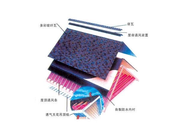 武汉彩色沥青油毡瓦